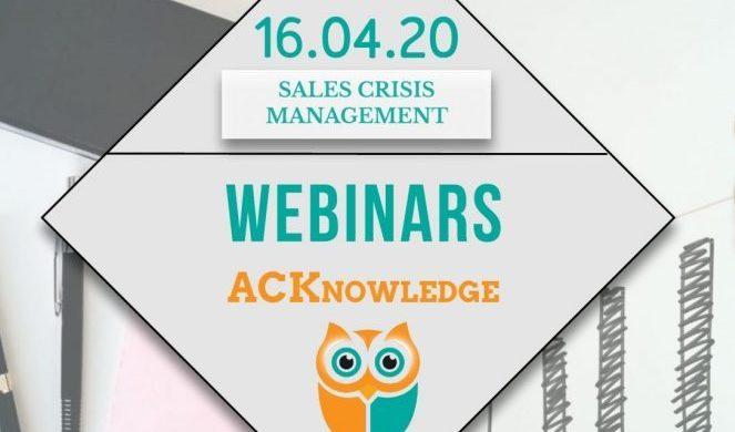 Sales crisis management